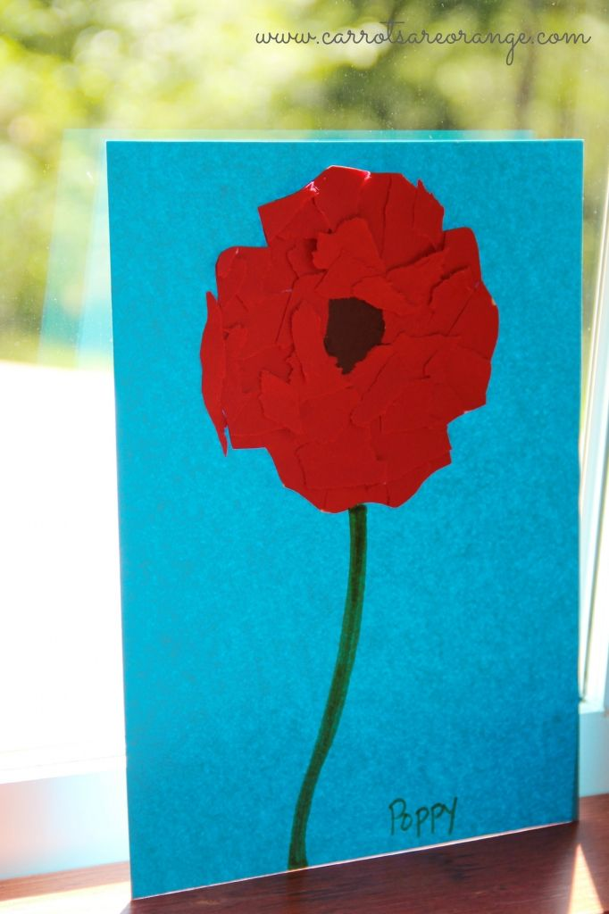 Easy Fun Red Poppy Craft Other Remembrance Day Activities