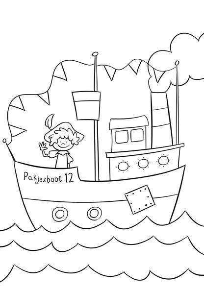 Gratis Kleurplaten Sinterklaas Stoomboot.Pin Van Cari Camila Op Sint En Piet Surprise Sinterklaas Crafts