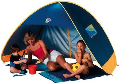 FAMILY 50 UPF Pop Up Beach Tent Play