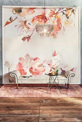 Rosella mural anthropologie beautiful rooms pinterest for Anthropologie wallpaper mural