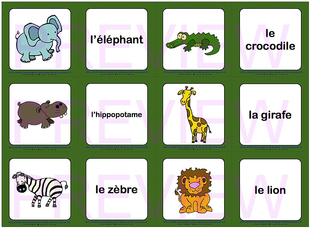 Free Memory Playing Cards In French