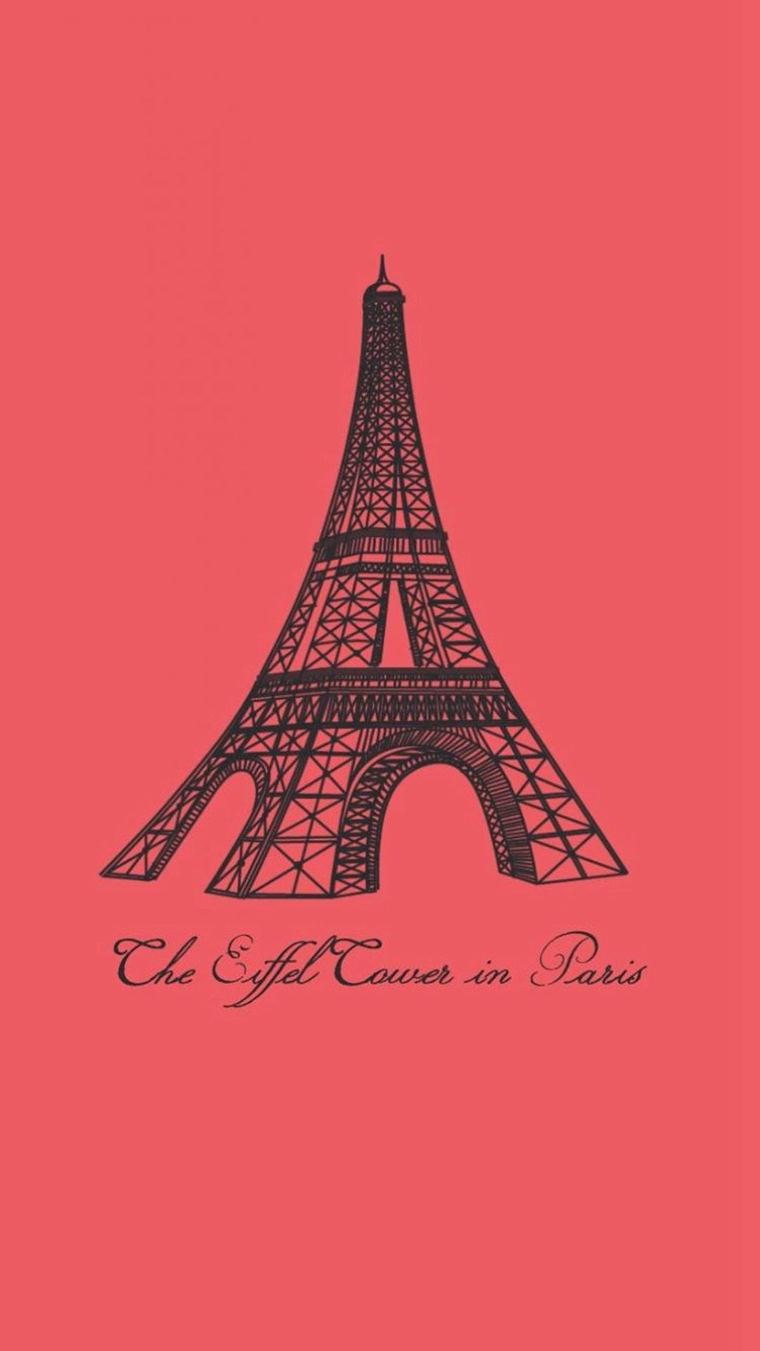 Eiffel Tower In Paris Painting Art IPhone 6 Plus Wallpaper