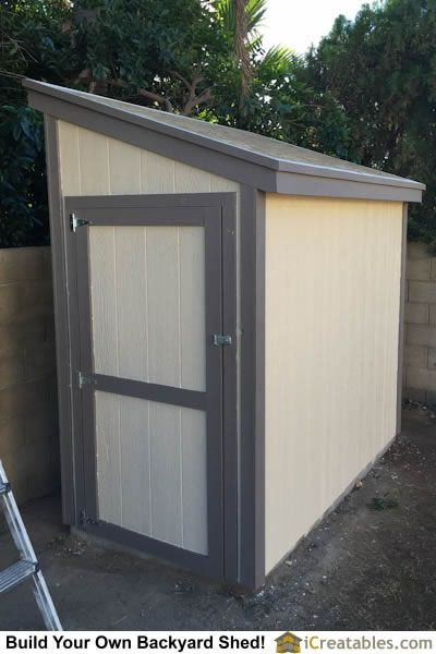 The painting of the shed is completed.
