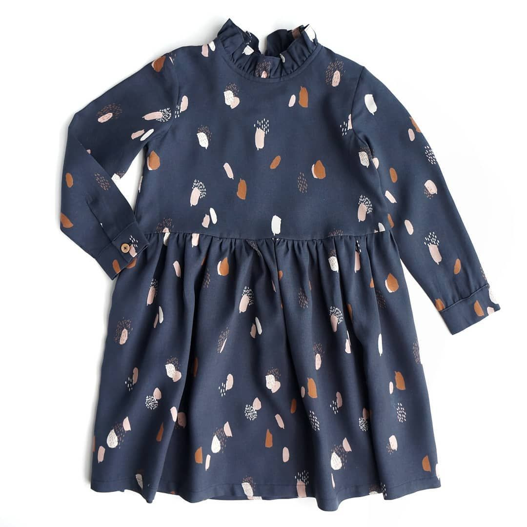 Ottobre Kids Atelier Brunette Moonstone Blue Kinder Kleid Nahen Sewing Dress Sewing Dresses Fashion Sewing For Kids
