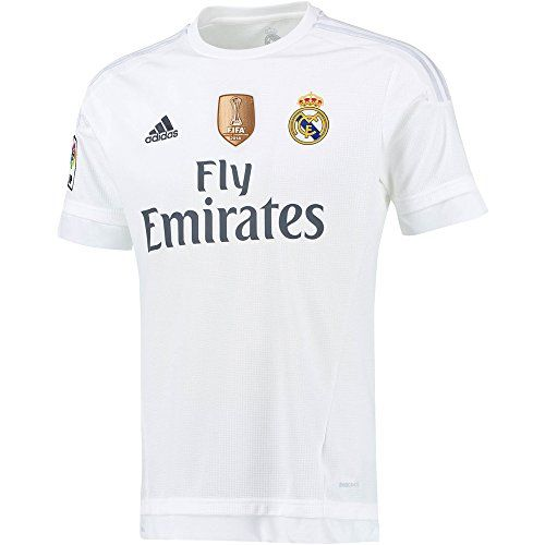 Real Madrid Home Jersey 2015 2016 Club World Cup Champions Patch M Football Soccer Real Madrid Club World Cup Madrid