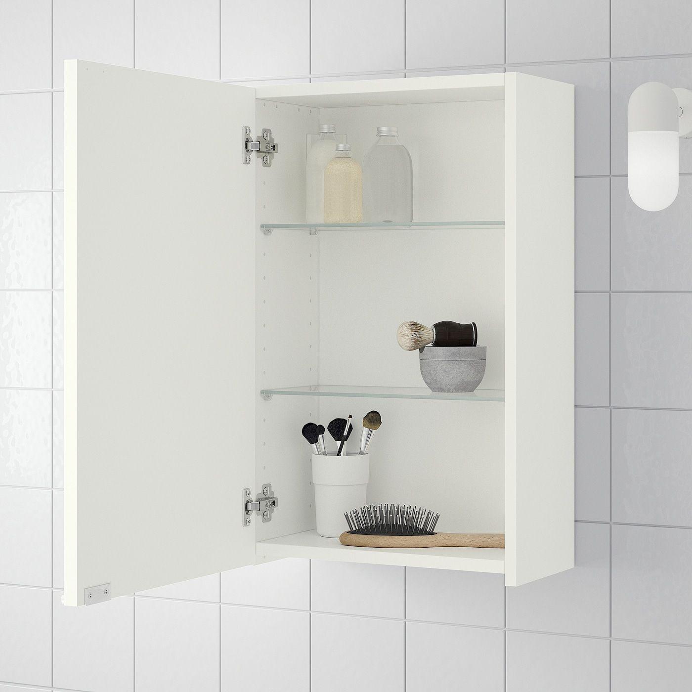 Ikea Lillangen Wall Cabinet White In 2020 Bathroom Wall Cabinets Small Bathroom Wall Cabinet Mirror Cabinets
