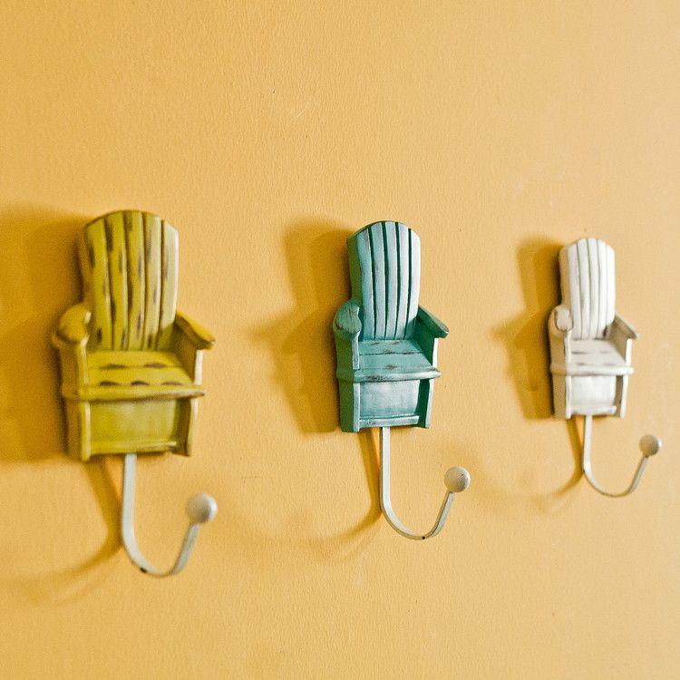 Mediterranean sea style resin chair coat key robe hooks | Hominess ...