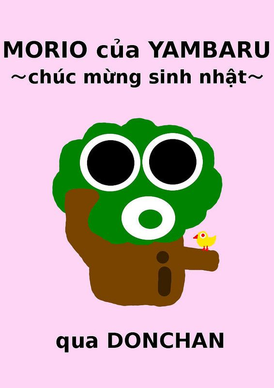 vietnamese language i made morio of yambaru happy birthday vietnamese language version and