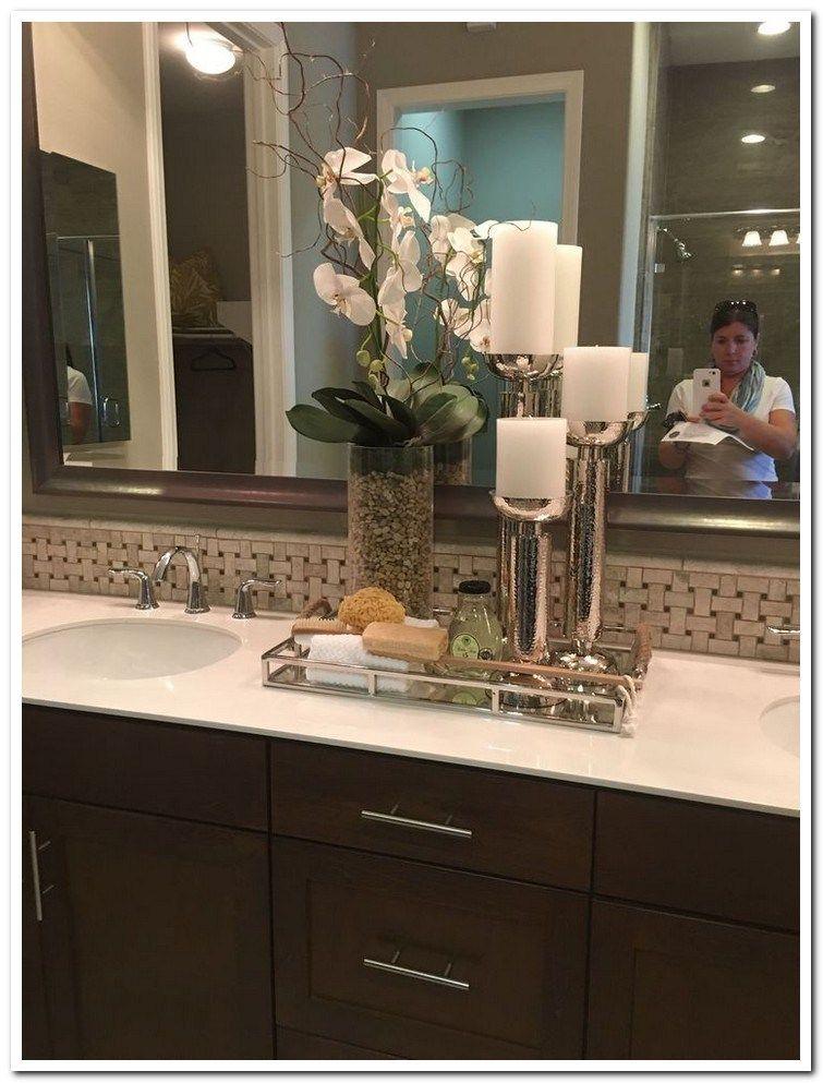40 Fantastic Apartment Decorating Bathroom Countertop Ideas Look