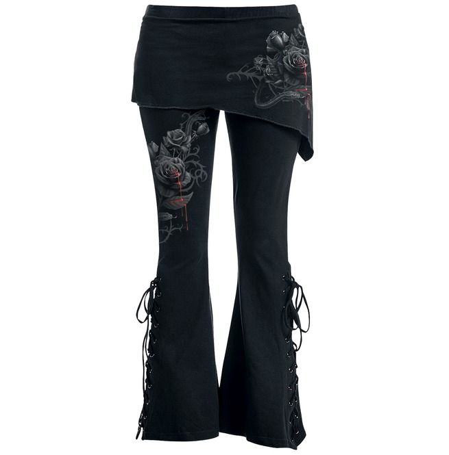 Fatal Attraction 2in1 Boot Cut Leggings With Micro Slant Skirt | Spiral Direct #sportclothes