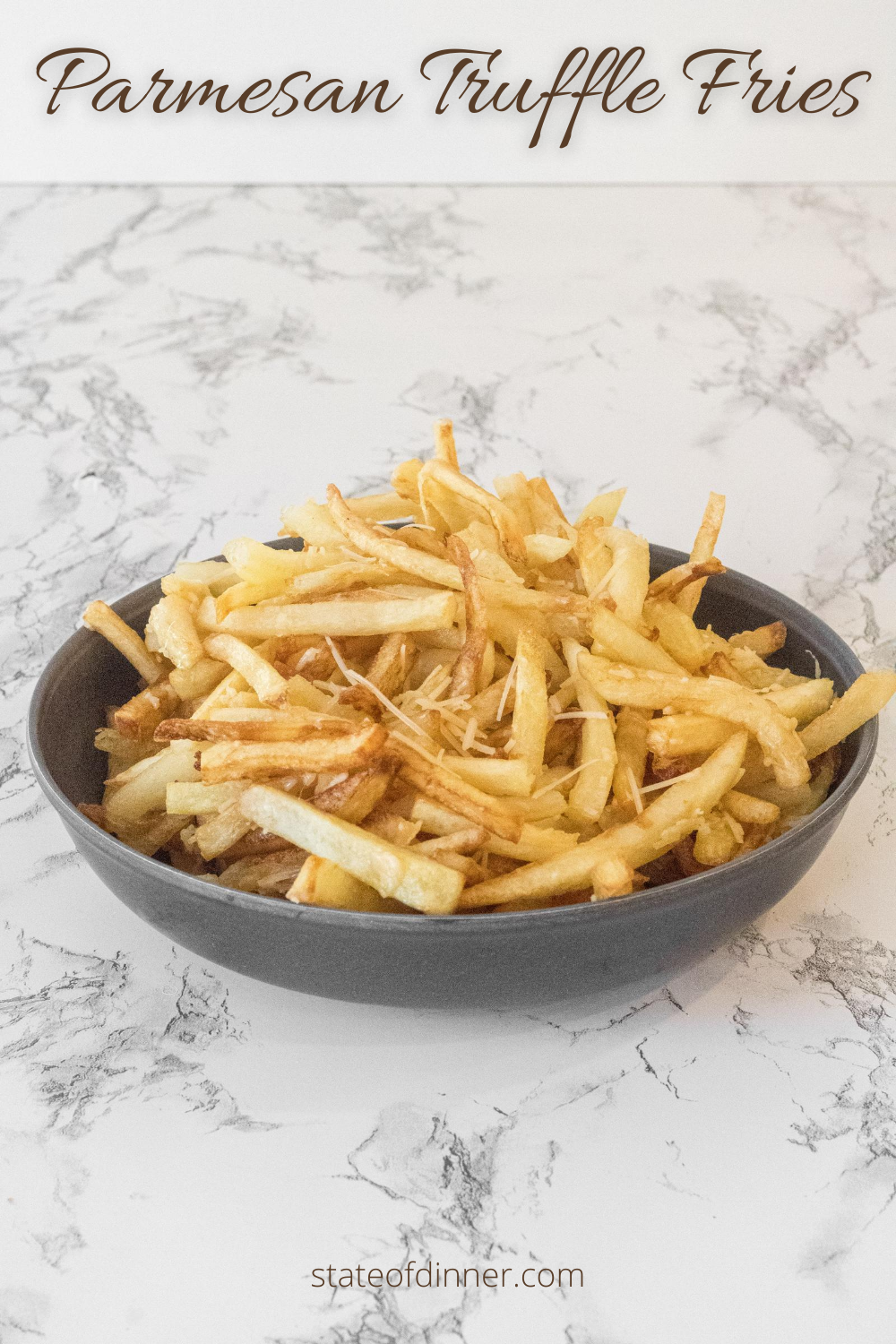 Parmesan Truffle Fries Recipe Crispy Soft Fries State Of Dinner Recipe Interesting Food Recipes Side Dishes Easy Recipes