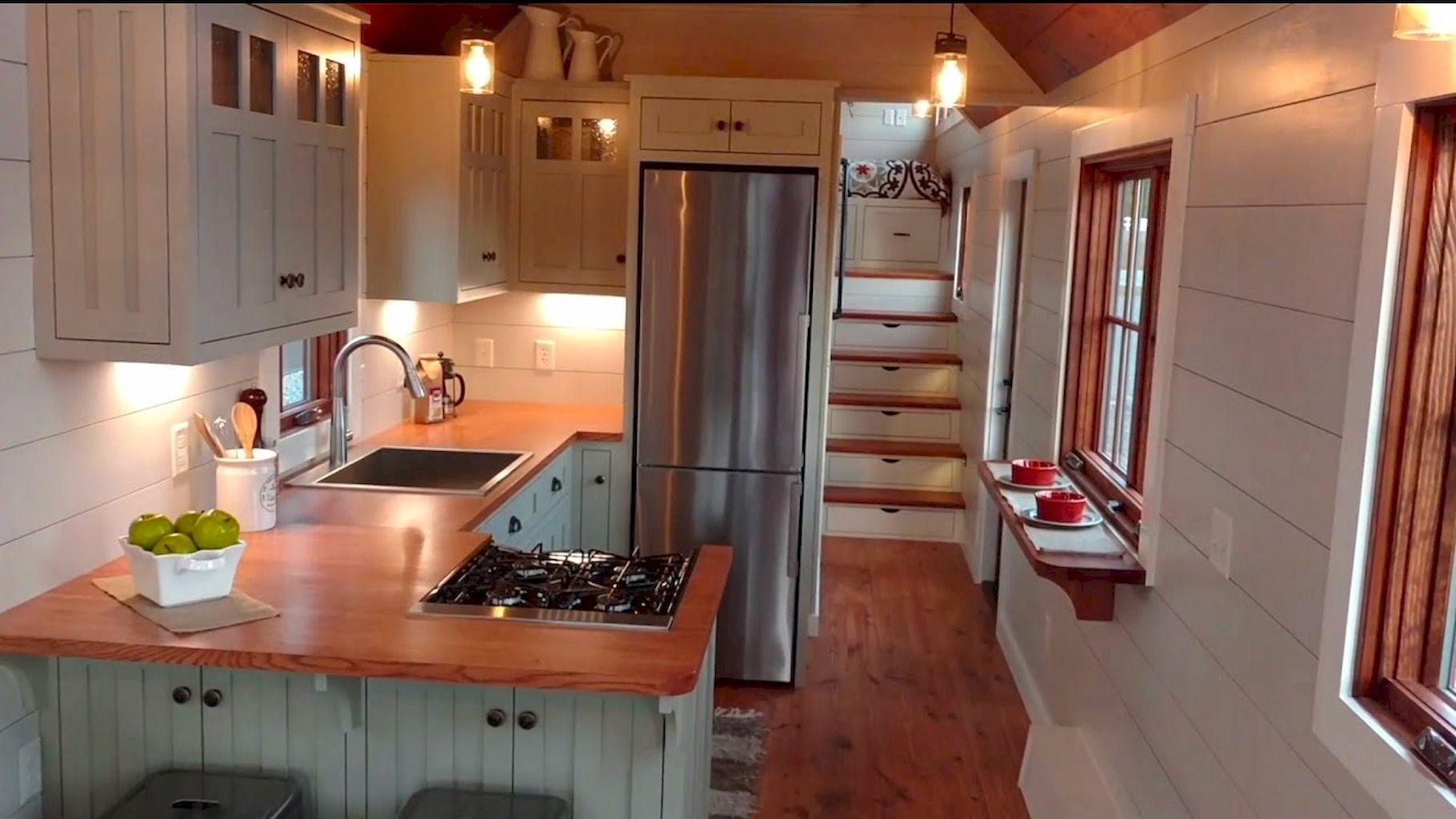 Impressive tiny house kitchen maximize space ideas (31