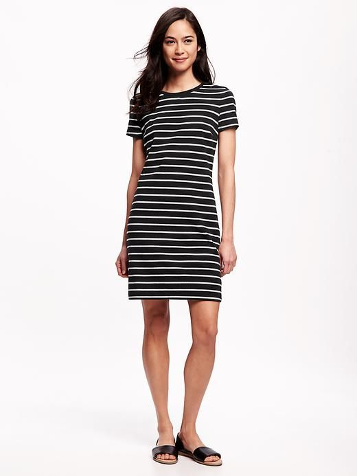 f1faf1ad2c93 Striped Jersey T-Shirt Dress for Women   My Style   Dresses, Shirt ...