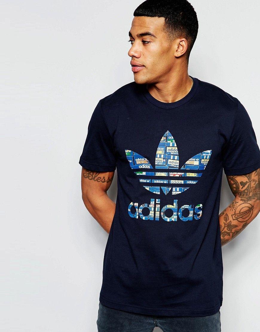 adidas trefoil t shirt damen