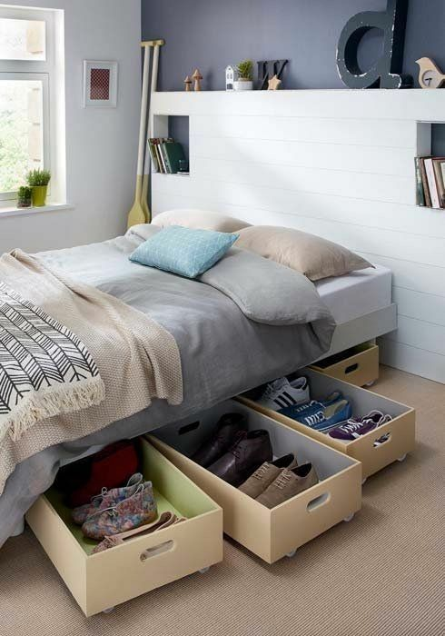 Storage tips for small rooms | cuartos | Small bedroom ...