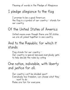 The Pledge Of Allegiance American Heritage Girls Kindergarten