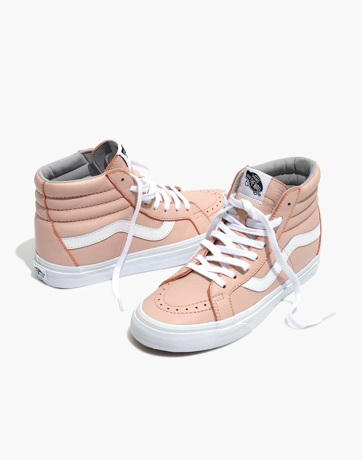7eae97c5b056 Madewell Vans Unisex SK8-Hi Reissue High-Top Sneakers in Oxford Pink Leather