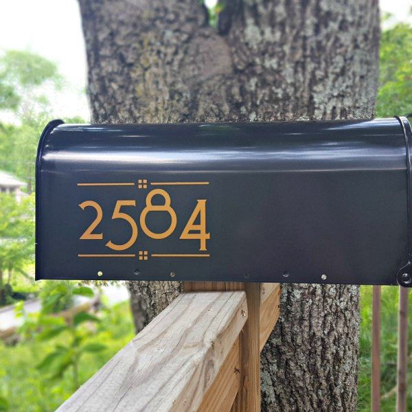 Toyland Mailbox Numbers Custom Mailboxes Arts Crafts Style Mailbox Numbers