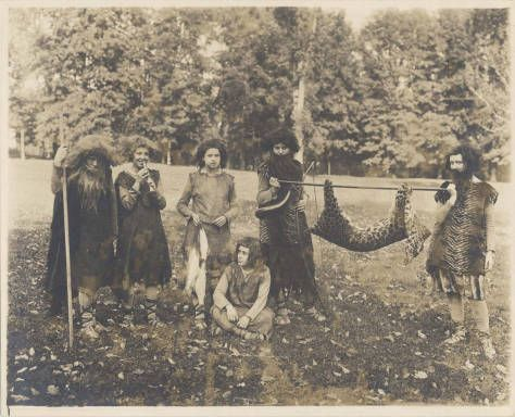 Department Of Economics At The Stage Of Hunting And Fishing In A 1912 Pageant Mount Holyoke College Archives Special Collectio Digital Image Image Special