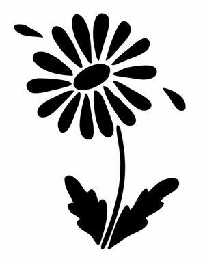 Pochoir adh sif 12 x 10 cm fleur marguerite image - Coloriage marguerite ...