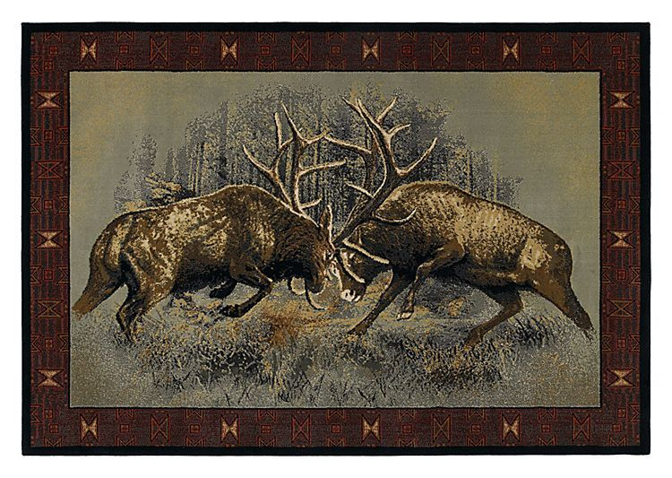 Lodge Themed Area Rugs Fight For Dominance Home Decor And
