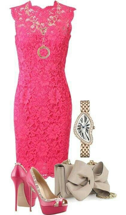 Pretty in Pink Lace Dress and accessories. I love love this look. Very Lisa Vanderpump!!