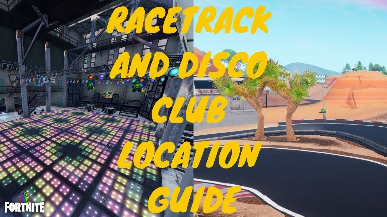 Fortnite Disco Club And Racetrack Locations Overtime Challenge