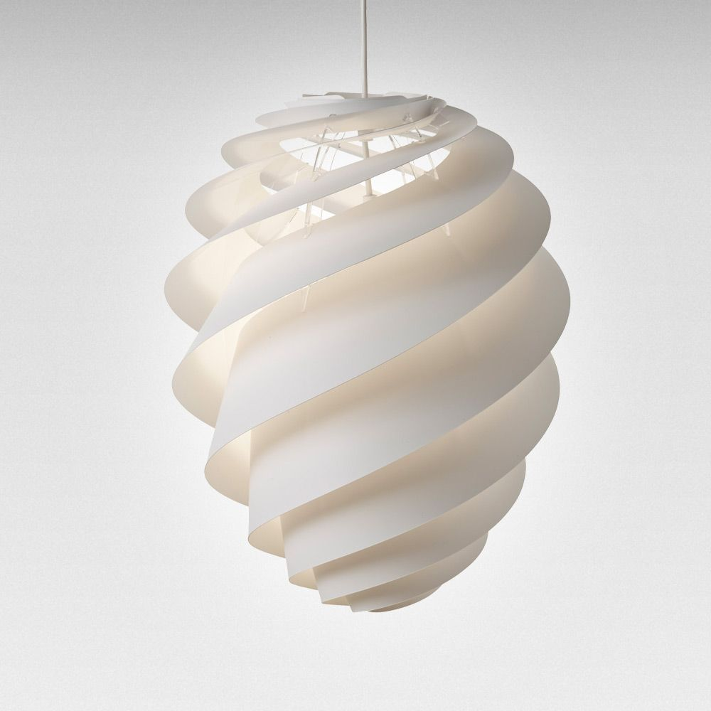 Swirl 2 Ceiling Lamp medium, White, Le Klint
