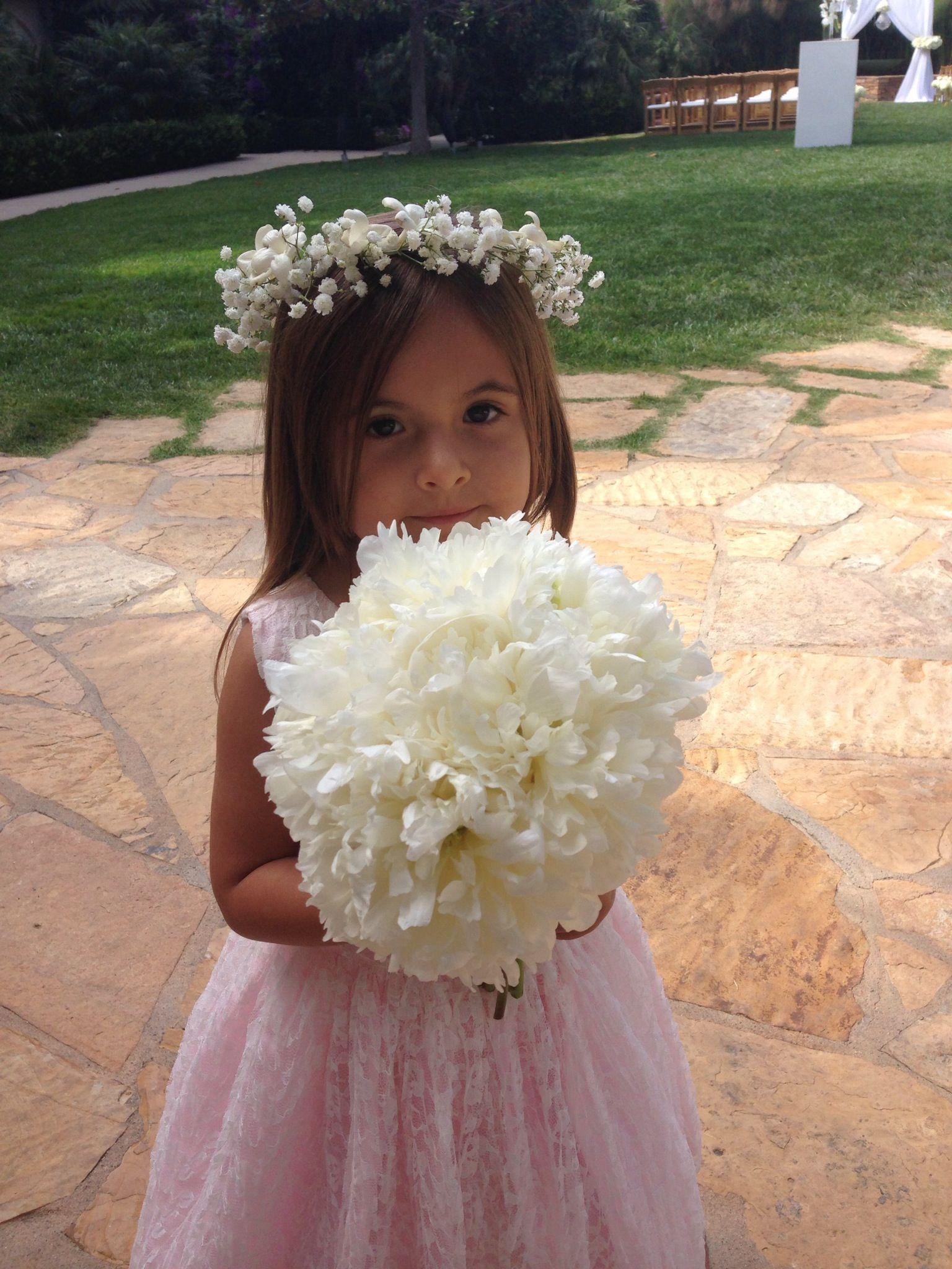 Flower girl flower crown mini peony bouquet flower box bouquets flower girl flower crown mini peony bouquet izmirmasajfo