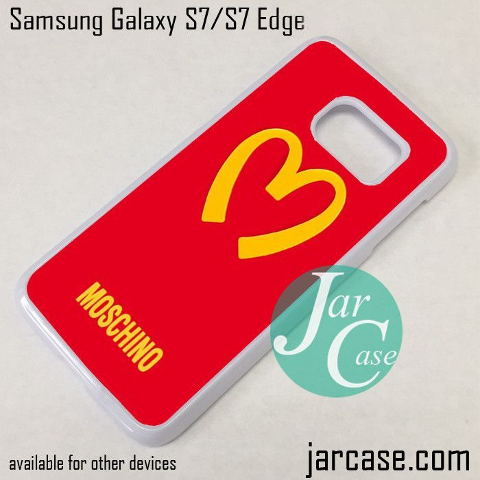 best service 59b78 f3a8e Moschino Logo Phone Case for Samsung Galaxy S7 & S7 Edge | °Ե✿†Λʟÿ ...