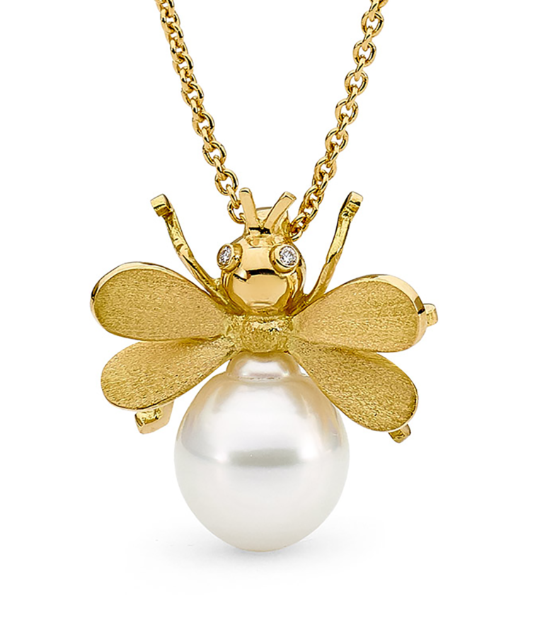 Allure South Sea Pearl Bumble Bee Pendant The Exquisite Beauty Of The Pearl Is Celebrated With With Images Online Jewelry Boutiques Boutique Jewelry Natural Gold Nugget