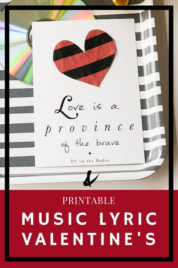 free printable valentines cards with song lyrics