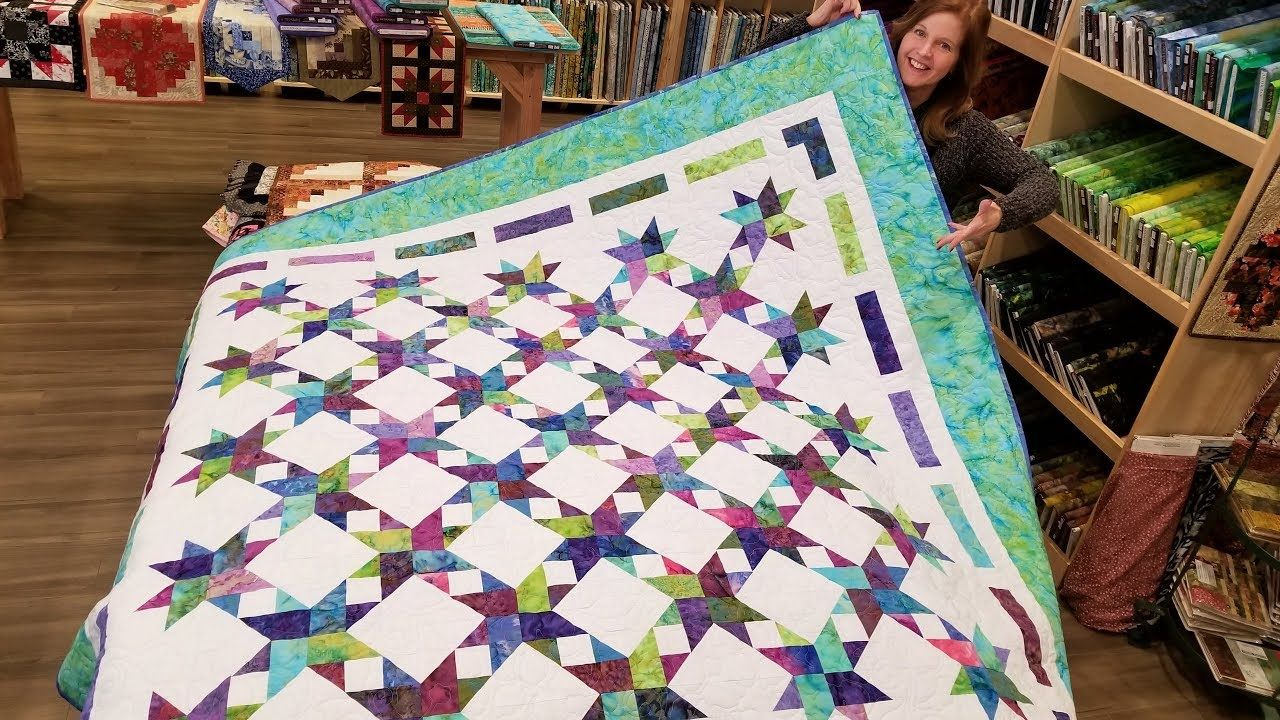 Let S Make A Stardust Quilt Only Takes 2 Different Blocks Youtube Quilts Quilting Tutorials Quilting Videos