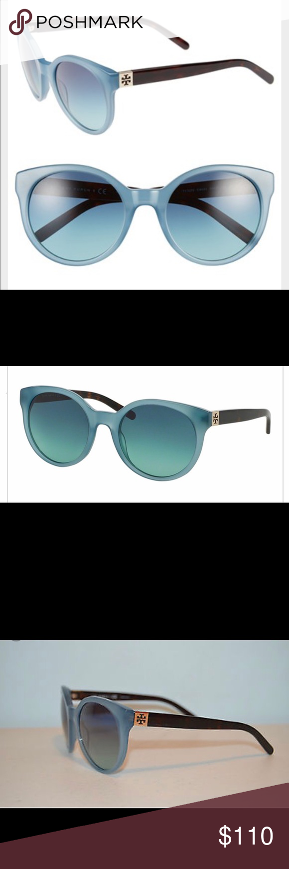 NWT💙Tory Burch💙Sunnies NWT💙Tory Burch💙Sunnies purchased from Sak's. Gorgeous color blue frames with tortoise shell arms! Still new in stores! Please check out my other listings and ratings as both are PHENOMENAL 🌈💙😍 (I will be posting pics of the actual pair soon-I just placed the shipment and haven't received them quite yet!) Tory Burch Accessories Sunglasses