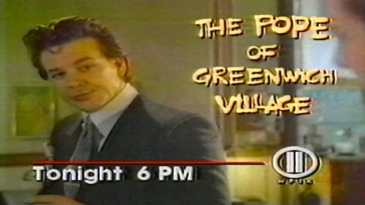 1986 - Commercial - The Pope of Grenwich Village - Tonight at 6pm on WPI...