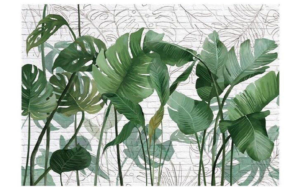 Green Tropical RainForest Wallpaper Wall mural, High