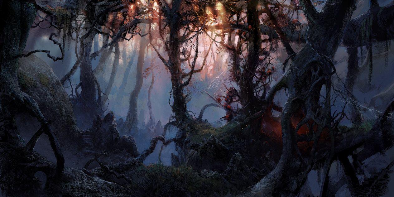 art dark car forest -#main