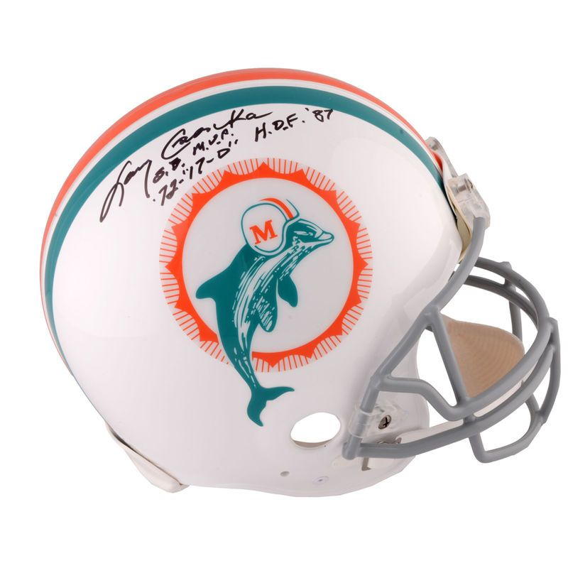 Larry Csonka Miami Dolphins Fanatics Authentic Autographed Riddell Throwback Pro Line Helmet with Multiple Inscriptions