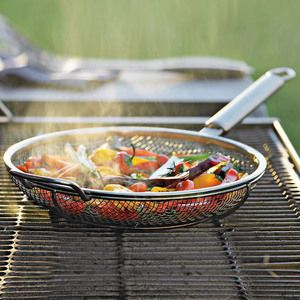Mesh Grill-Top Fry Pan $30 http://www.amazon.com/Maverick-MFP-01CR-Mesh-Grill-12-Inch/dp/B007FFW1RS/ref=sr_1_3?ie=UTF8=1337573339=8-3
