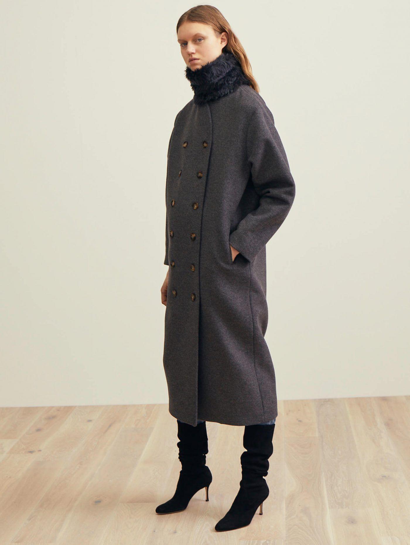270d4d063152 Bergerac wool coat grey melange   Toteme18   Fashion, Coat, Wool coat