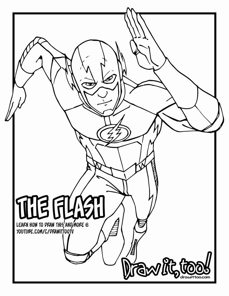 The Flash Coloring Book Luxury The Flash The Cw Tv Series Tutorial Version Two Superhero Coloring Pages Superhero Coloring Super Hero Coloring Sheets
