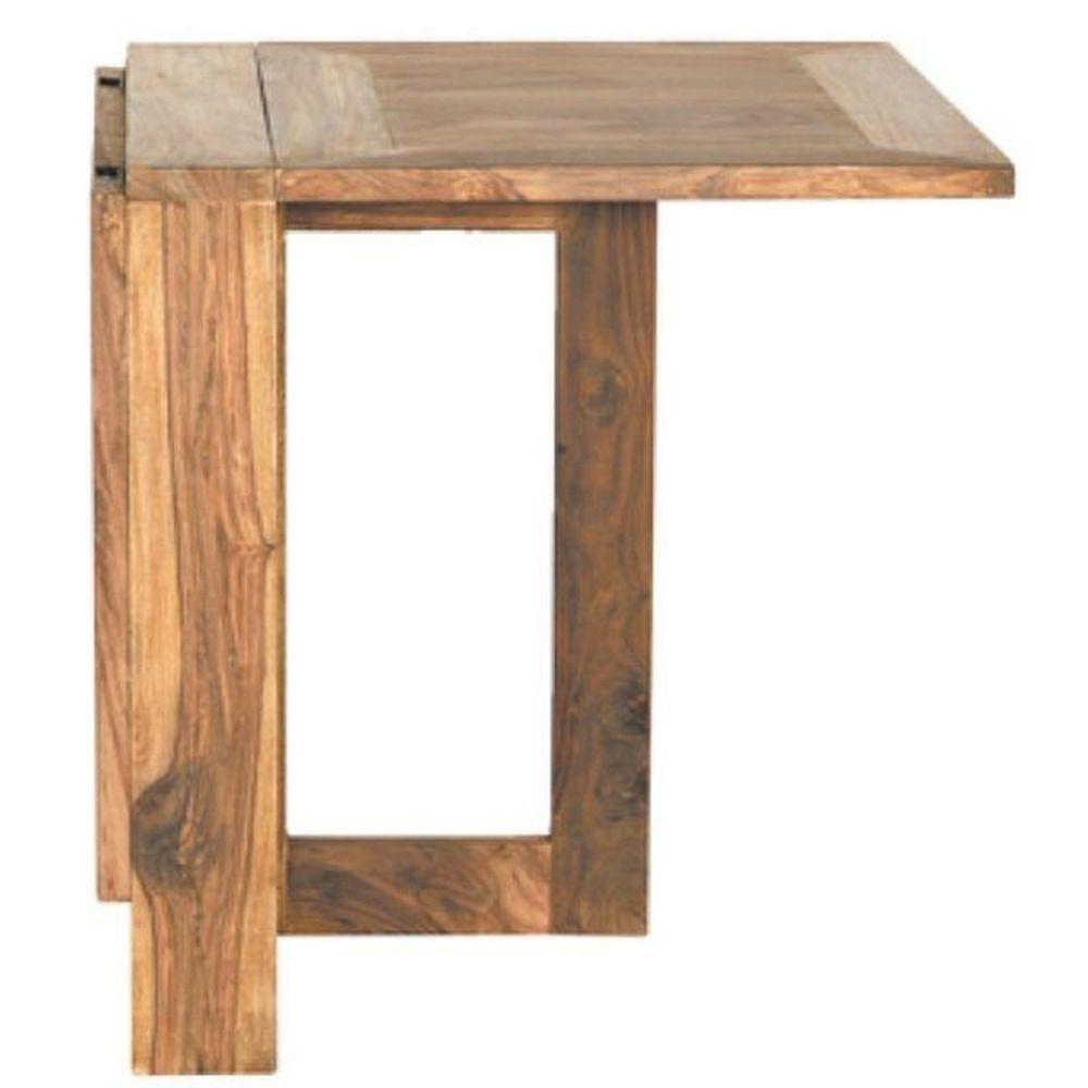 Esstisch 130x80cm klappbar aus Massivholz Palisander natur