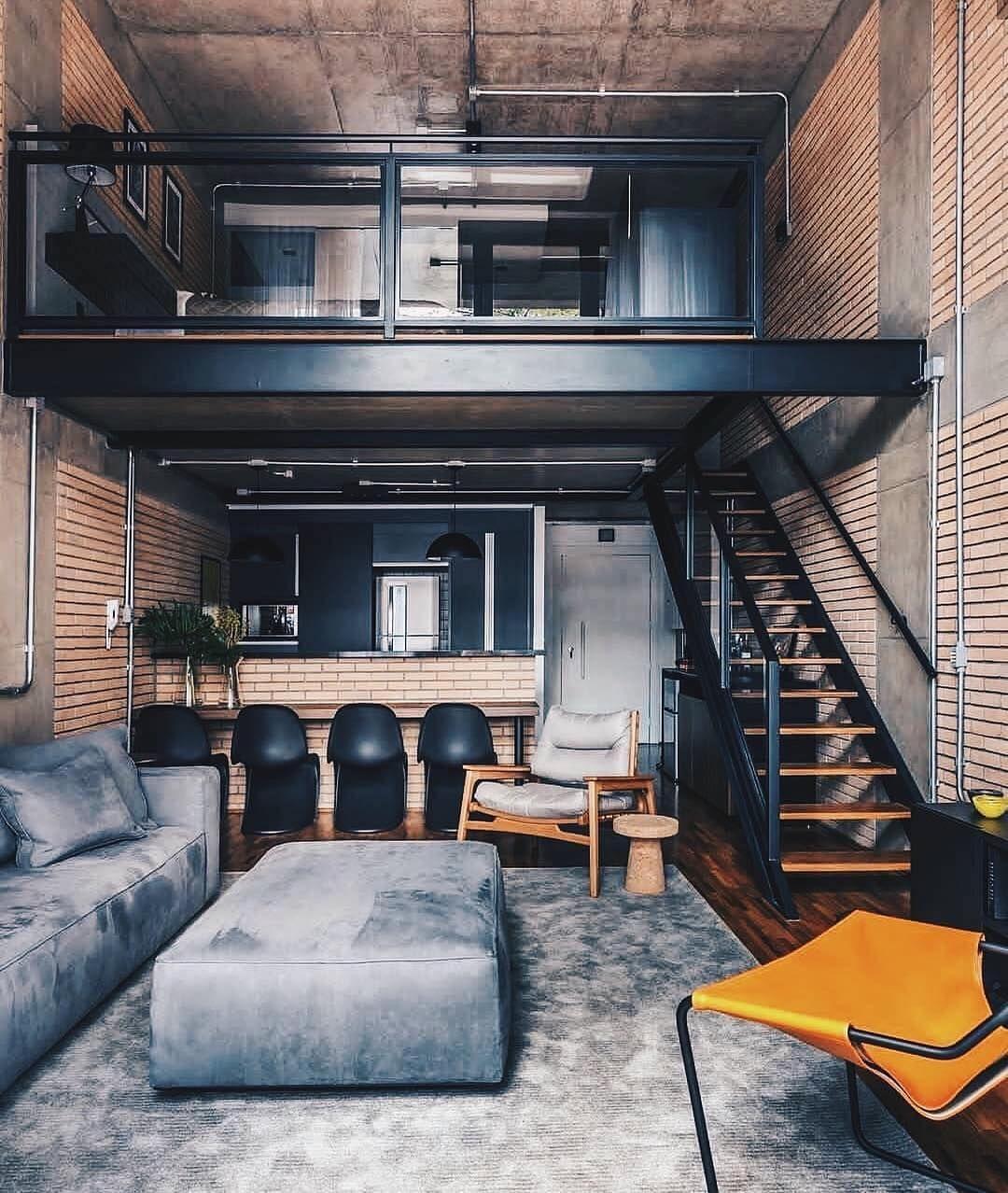 Loft interior design ideas on instagram ⠀⠀ 💡оцените дизайн от 1 до 10