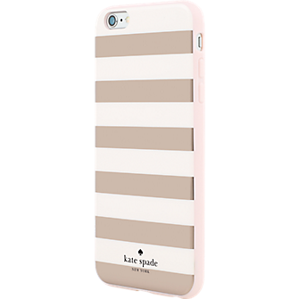 kate spade new york Flexible Hardshell Case for iPhone 6 Plus - Candy  Stripe Rose Gold - Verizon Wireless