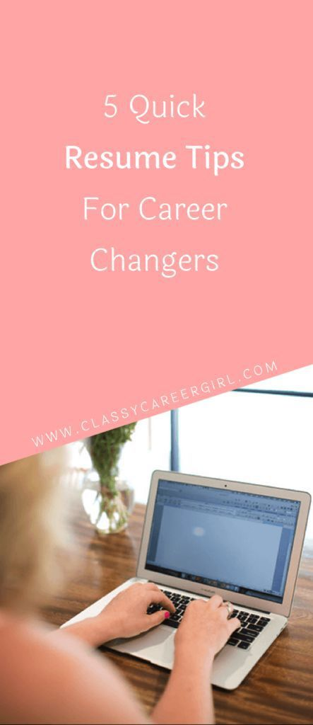 Career infographic  5 Quick Resume Tips For Career Changers Ace - 5 resume tips