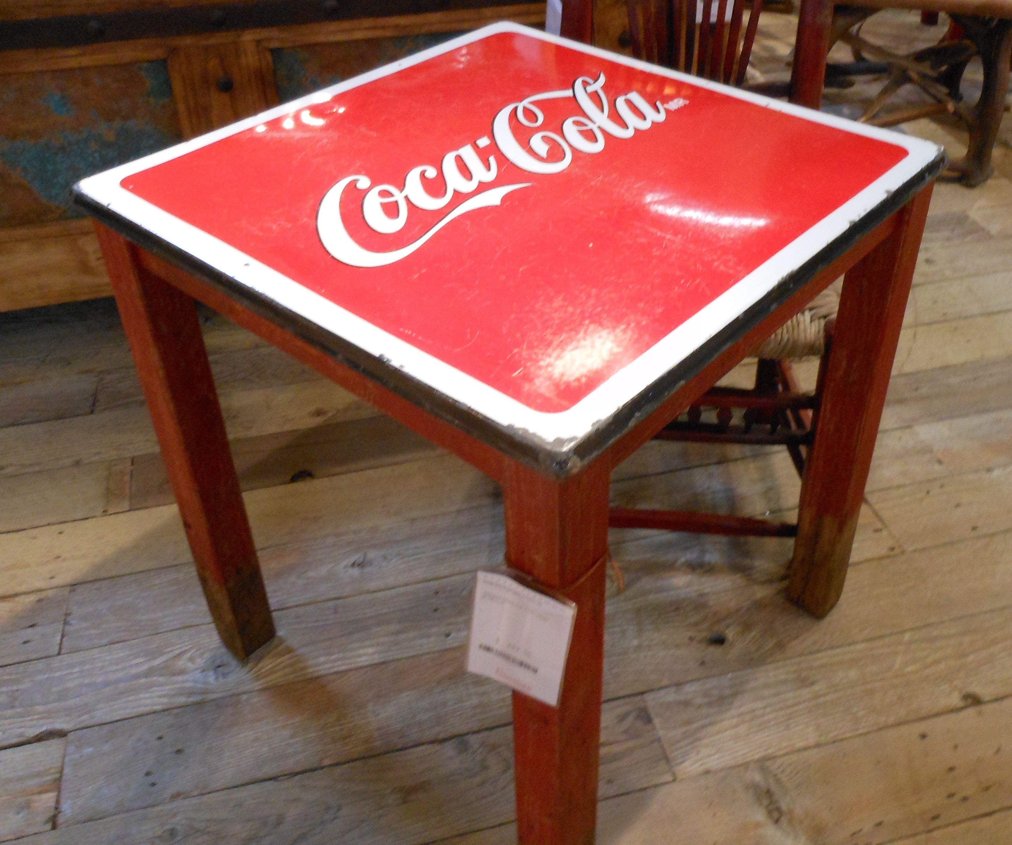 Cute little Coca Cola table from Mexico home decor