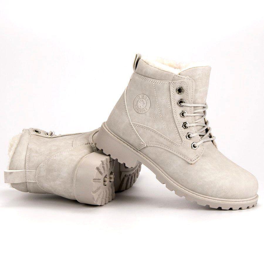 Klasyczne Szare Trapery Army Boot Combat Boots Boots