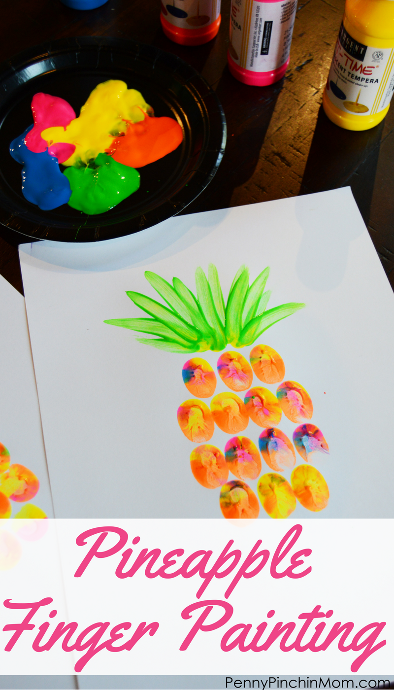 Easy Kids DIY Project Pineapple Finger Painting