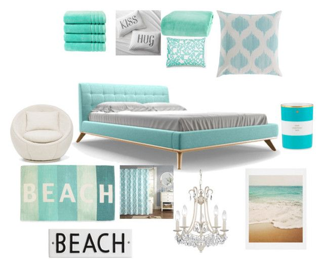"""""""Tiffany & Co. Themed Room"""" by bellarutenberg ❤ liked on Polyvore featuring interior, interiors, interior design, maison, home decor, interior decorating, Joybird Furniture, Crate and Barrel, Berkshire Blanket et Unison"""