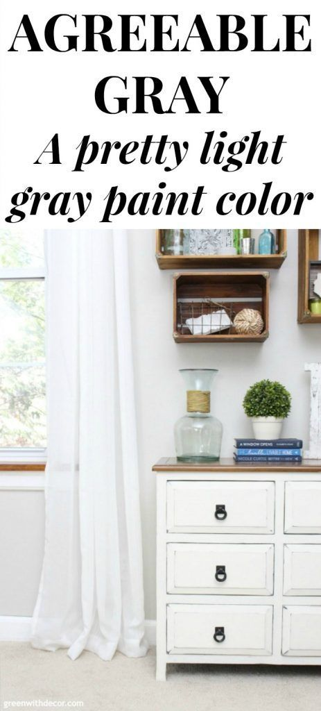 Agreeable Gray by Sherwin Williams (paint colors) - Green With Decor #sherwinwilliamsagreeablegray